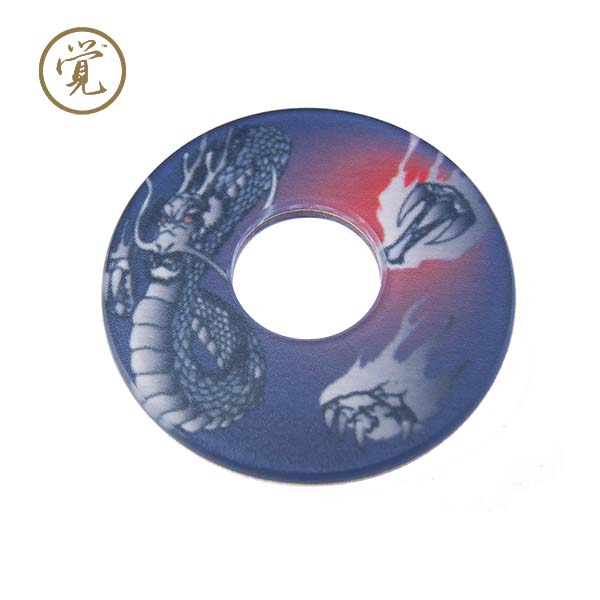 "Fighting Dragon ""Ryuu"" Tsuba - Red"